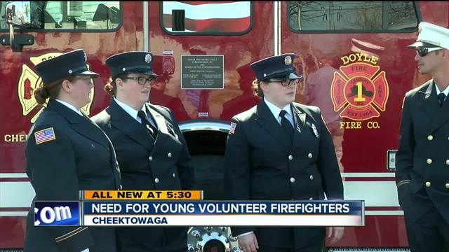 Young volunteer firefighters needed in Erie County