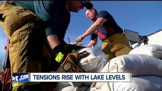 Tensions rise with lake levels