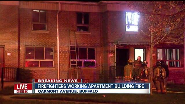 Firefighters work overnight fire in apartment building