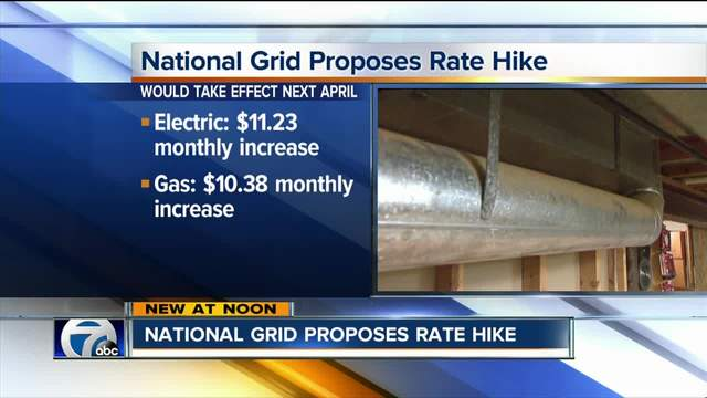 National Grid Proposes Rate Hike