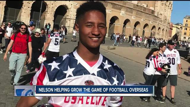 Local athlete helping to grow the game of football overseas