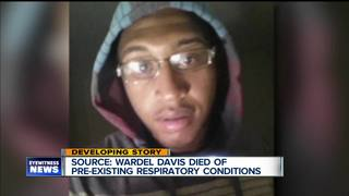 Source: Davis died of pre-existing conditions