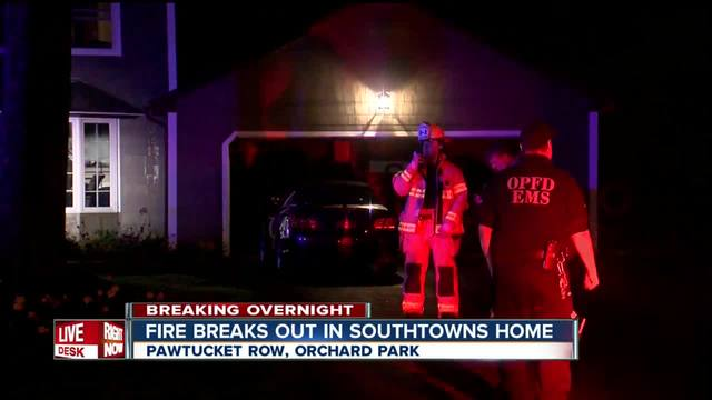 Three people taken to area hospital after fire in Orchard Park