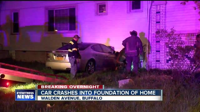 Car crashes into home on Buffalo-s east side