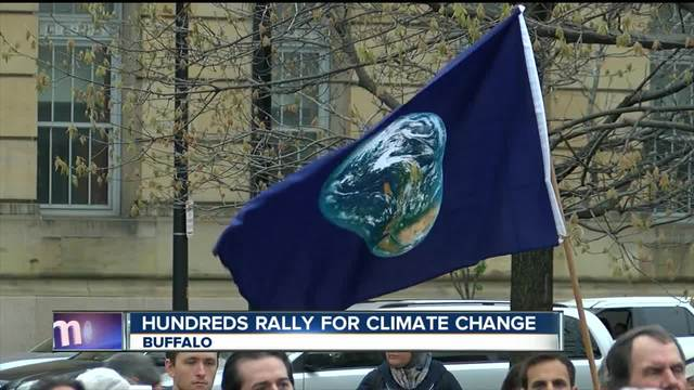 Hundreds of WNYers rally for climate change