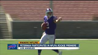 Peterman helps create first rookie card