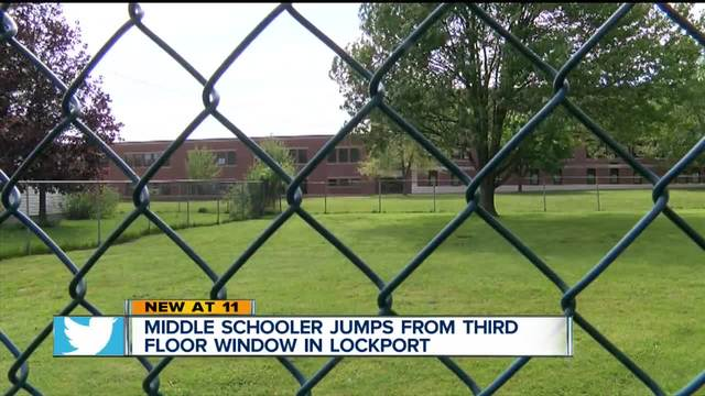 Middle schooler jumps from third floor window in Lockport