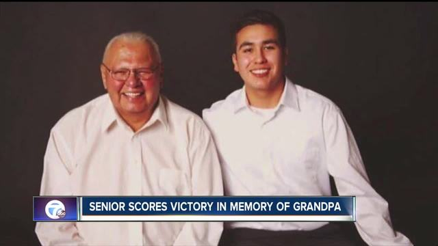 Senior scores victory in memory of grandpa
