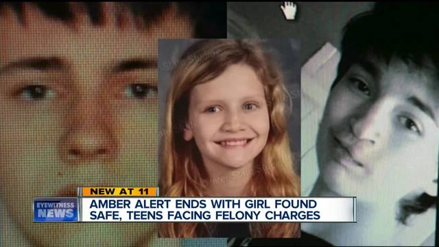 Amber alert ends with girl safe- teens charged