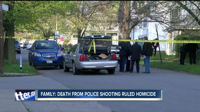 Death of man in Buffalo Police shooting ruled homicide- family says