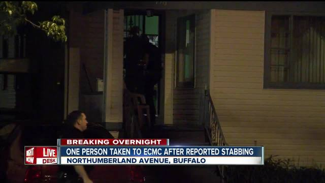 One person taken to hospital after reported stabbing