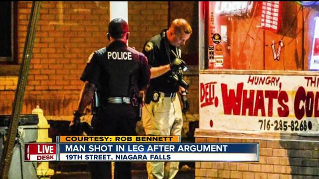 Man shot in the leg in Niagara Falls after argument