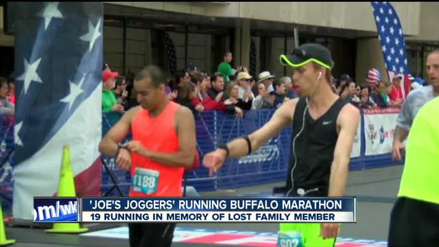 Family of 19 runs Buffalo Marathon in honor of lost loved one