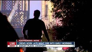 Lockport firefighters investigate overnight fire