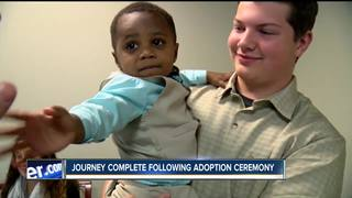 Two-year-old's adoption journey complete