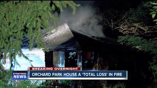 Orchard Park home catches fire on 4th of July