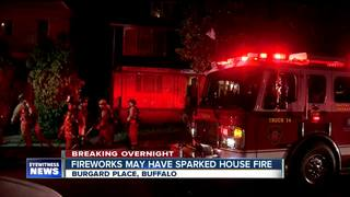 Fireworks may have sparked fire at Buffalo home