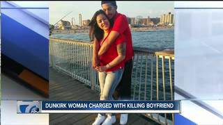 Smiling woman arrested for murder in Dunkirk