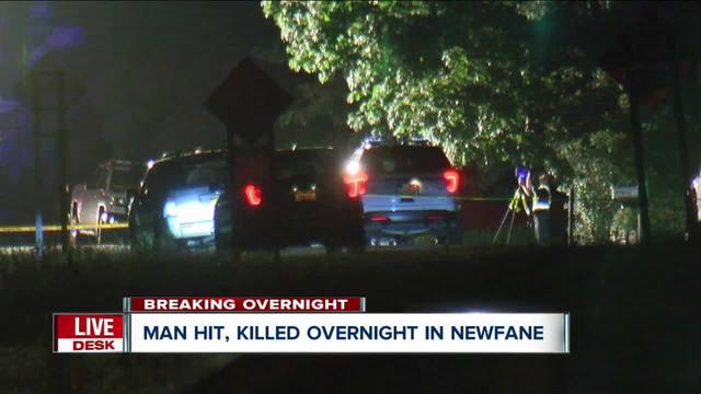 Fatal pedestrian accident in Newfane