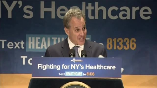 NY AG says he'll sue over GOP health care bill