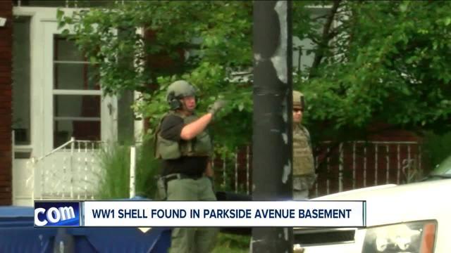 WW1 shell found in Parkside Avenue basement