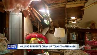 Holland Residents Clean Up Tornando Aftermath