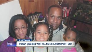 Woman accused of killing ex-husband with car