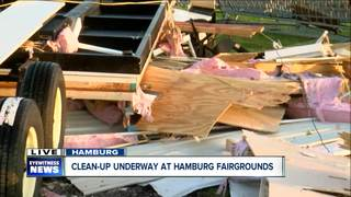 Cleanup continues at Hamburg Fairgrounds