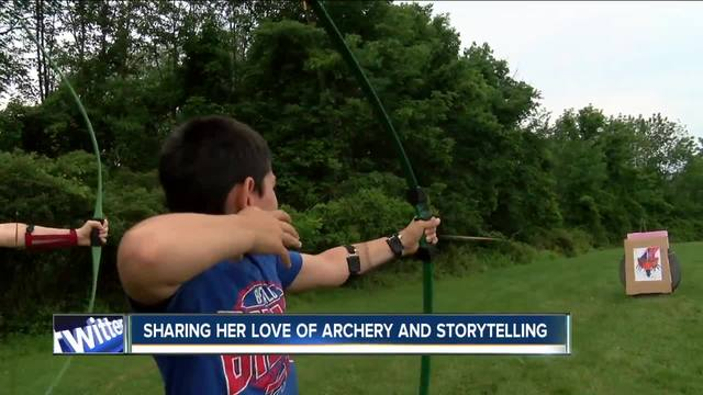 Sharing her love of archery and storytelling