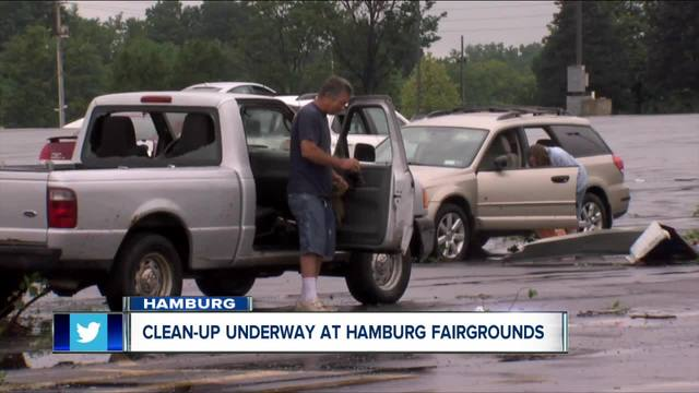 Clean up continues at Hamburg Fairgrounds