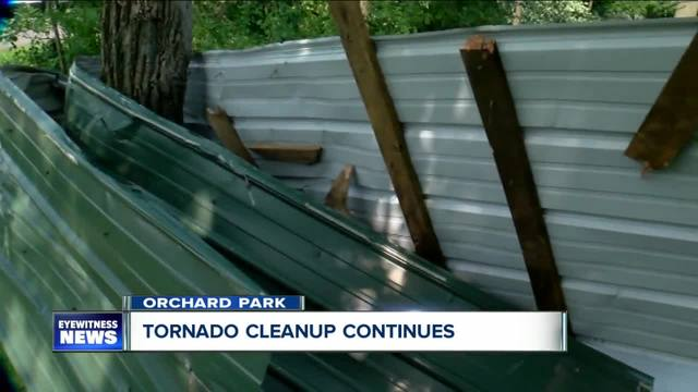 Orchard Park cleaning up after tornado