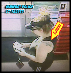 Amherst police search for credit card thief