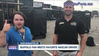 Buffalo native meets favorite NASCAR driver