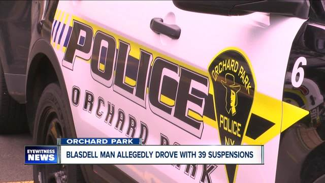 Blasdell man with 39 suspensions on his license allegedly drove high