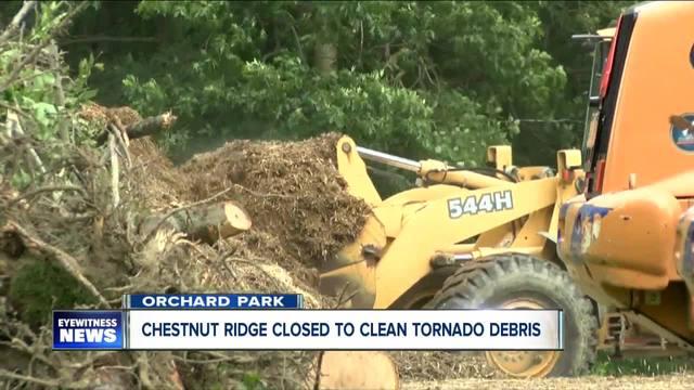 Tornado damage keeps parts of Chestnut Ridge closed