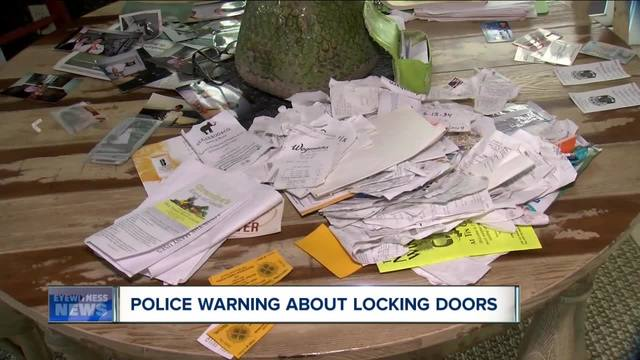 Police warn people to lock doors