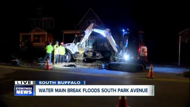Two water main breaks in Buffalo overnight