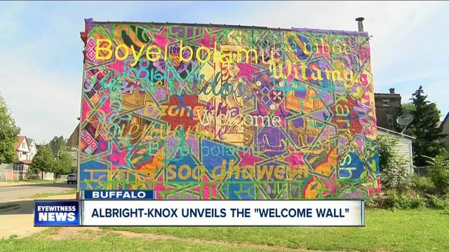 Albright-Knox unveils the -welcome wall-