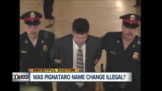 I-Team: Was Pignataro's name change illegal?