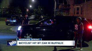 Bicyclist hit by car in Buffalo