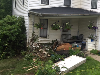 Man strikes house with truck in Allegany County