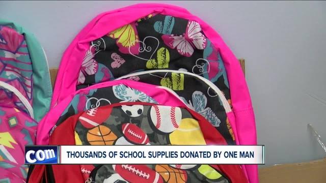 Niagara Falls businessman donates school supplies