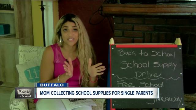 Single mom collects school supplies for children in need