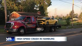 High-speed chase ends in Hamburg with one hurt
