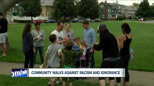 Unite by Night holds a walk against racism and bigotry