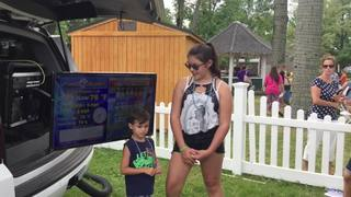 Emily and Brayden go live with weather