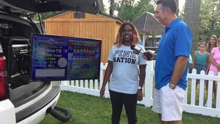 Adeia Holcomb goes live with weather