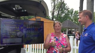 Stacey Klimczak goes live with weather