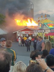 Fair releases statement on Saturday night fire