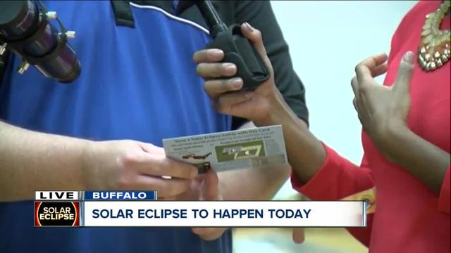 Buffalo State College sets up for -Eclipse View and Do- Party